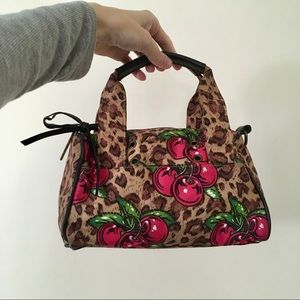 Betsey Johnson Leopard & Cherry Bag - Betseyville